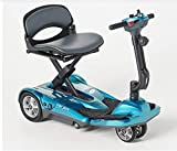 EV Rider Transport AF+ - Automatic Folding Scooter with Remote Lithium Power Mobility (Seafoam Blue)