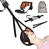 Neck Head Hammock,Cosy Life Breathable Velvet Cervical Neck Traction Device for Neck Pain Relief and Head Relaxation,Neck Stretcher with Adjustable Straps & Durable Reinforced Elastic Cords (Brown)