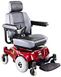 Compact Mid-Wheel Drive Power Chair, Burgundy