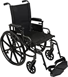ProBasics Ultra Lightweight Wheelchair for Adults - Height Adjustable Seat - Flip Back Heaight Adjustable Desk Arms - Swing-Away Foot Rest, 18' x 16' Seat