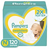 Diapers Newborn/Size 0 ( 10 lb), 120 Count - Pampers Swaddlers Disposable Baby Diapers, Giant Pack