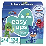 Pampers Easy Ups Pull On Disposable Potty Training Underwear for Boys and Girls, Size 5 (3T-4T), 124 Count (Packaging May Vary)