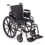 Invacare Tracer SX5 Wheelchair, With Desk Length Arms and T93HCP Hemi Footrests with Heel Loops, 18' Seat Width, 1193458